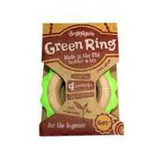 BeginAgain Green Ring Teether