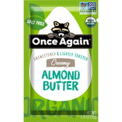 Once Again Almond Butter, Creamy, Unsweetened & Lightly Toasted, Organic