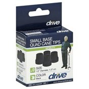 Drive Cane Tips, Quad, Small Base, Black
