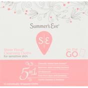 Summer's Eve Cleansing Cloths, for Sensitive Skin, Sheer Floral, 5 in 1