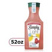 Simply Light Lemonade With Raspberry Fruit Juice, Non-Gmo