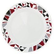 Corelle Plate, Dinner, Mosiac Red, Not Packed