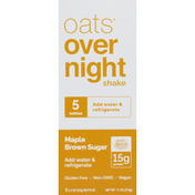 Oats Overnight Shake, Maple Brown Sugar, 5 Pack