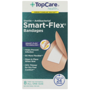 TopCare Smart-Flex, Antibacterial First Aid Antiseptic All One Size Bandages