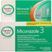 Signature Care Miconazole 3, Combination Pack