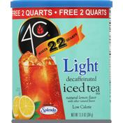 4C Foods Iced Tea Mix, Lemon, Light, Decaffeinated
