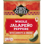 First Street Jalapeno Peppers, Whole, with Carrots & Onions, Hot