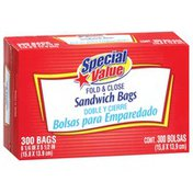 Special Value Sandwich Fold & Close Bags