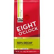 Eight O'Clock Coffee Medium 50% Decaf 100% Arabica Ground Coffee