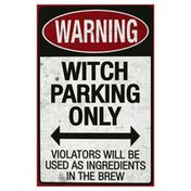 Sunstar Industries Metal Sign, Spooky Parking, Assorted, 17 Inch