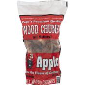 Fep Wood Chunks, All Natural, Apple, Bag