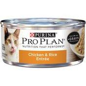 Purina Pro Plan Chicken & Rice Entree in Gravy Adult Wet Cat Food