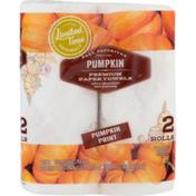Ahold Limited Time Originals Pumpkin Print Paper Towel Rolls