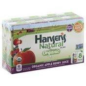 Hansen's Natural Natural Organic Apple Berry Juice Cartons