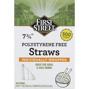First Street Straws, Polystyrene Free, 7-3/4 Inch