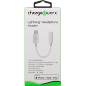 Chargeworx Headphone Adapter, Lightning