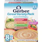 Gerber Cereal Variety Pack Fruit & Fruit/Veggie Cereal