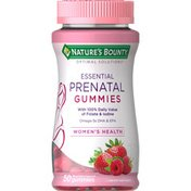 Nature's Bounty Essential Prenatal, Gummies, Mixed Berry Flavored