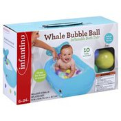 Infantino Inflatable Bath Tub, Whale Bubble Ball
