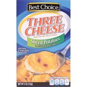 Best Choice Three Cheese Sliced Potatoes In A Savory Cheese Sauce