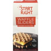 Start Right Lean Beef Sausage & Egg Start Right Waffle Sliders Lean Beef Sausage & Egg