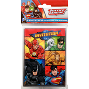 Justice League Invitations, with Envelopes