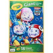 Crayola Coloring Pages, Paw Patrol, Giant