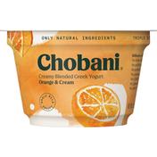 Chobani Yogurt, Greek, Creamy Blended Orange & Cream