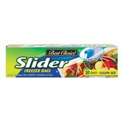 Best Choice Zip & Slider Freezer Bags