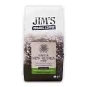 Jim's Organic Coffee Papua New Guinea Korofeigu, Light Roast, Whole Bean Coffee