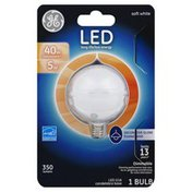 GE Light Bulb, LED, Decorative Globe, Soft White, 5 Watts