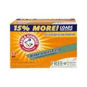 Arm & Hammer Activated Baking Soda Deodorizer Free Of Perfume & Dye Laundry Detergent - 54 Loads