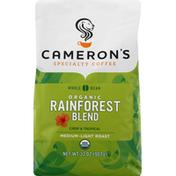 Camerons Coffee, Organic, Whole Bean, Medium-Light Roast, Rainforest Blend