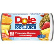 Dole 100% Juice Pineapple Orange Strawberry