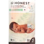 Honest Tea Diapers, Multicolored Giraffes, Lil' Peanut, Newborn (Less than 10 lbs)