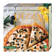 Amy's Kitchen Frozen Mushroom & Olive Pizza, Hand-Stretched Crust, Non-GMO
