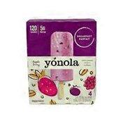 yonola Greek Yogurt+berries+granola Breakfast Frozen Parfait Bars