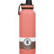 Haven & Key Tumbler, Stainless Steel, Coral, 40 Ounce
