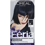 Feria Permanent Haircolour, Gel, Bright Black 21