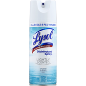 Lysol Disinfectant Spray, Lightly Scented, Crystal Waters Scent