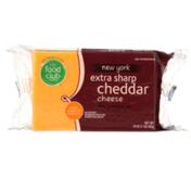 Food Club New York Extra Sharp Cheddar Cheese