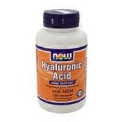 Now Hyaluronic Acid 50 Mg With Msm Joint Support, Important Joint Lubricant Dietary Supplement Veg Capsules