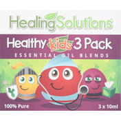 Healing Solutions Essential Oil Blends, 100% Pure, 3 Pack