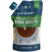 Bare Bones Bone Broth, Organic Rosemary & Lemon Chicken