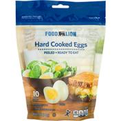 Food Lion Hard Cooked Eggs, Peeled, Medium