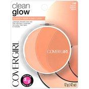 CoverGirl Clean Glow COVERGIRL Clean Glow Lightweight Powder Blush, Peaches .42 oz (12 g) Female Cosmetics