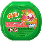 Gain flings! plus Aroma Boost Laundry Detergent Pacs, Tropical Sunrise, 57 Count