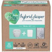 Pampers Hybrid Cloth Diaper Trial Kit - 1 Reusable Cover + 13