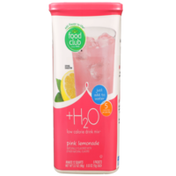 Food Club +H2O, Pink Lemonade Low Calorie Drink Mix