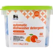 Food Lion Dishwasher Detergent, Automatic, Citrus Scent, Cup/Tub